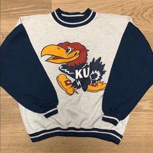 KU sweat shirt.